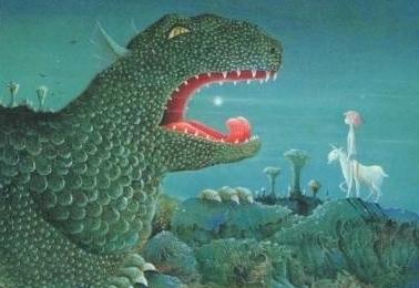 J'aime lire Les drinns - illustration Frédéric Clément 1981