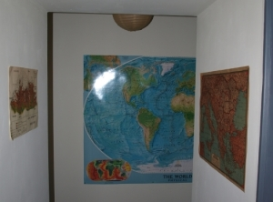 Cartes murales couloir