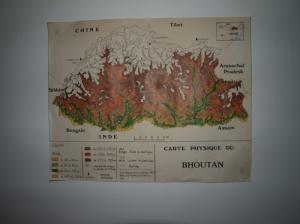 Carte murale Bhoutan