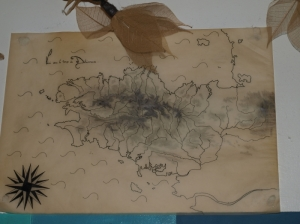 Carte murale Bretagne